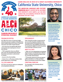 The ALCI Fact Sheet highlights our program, our students, and our wonderful location in California.
