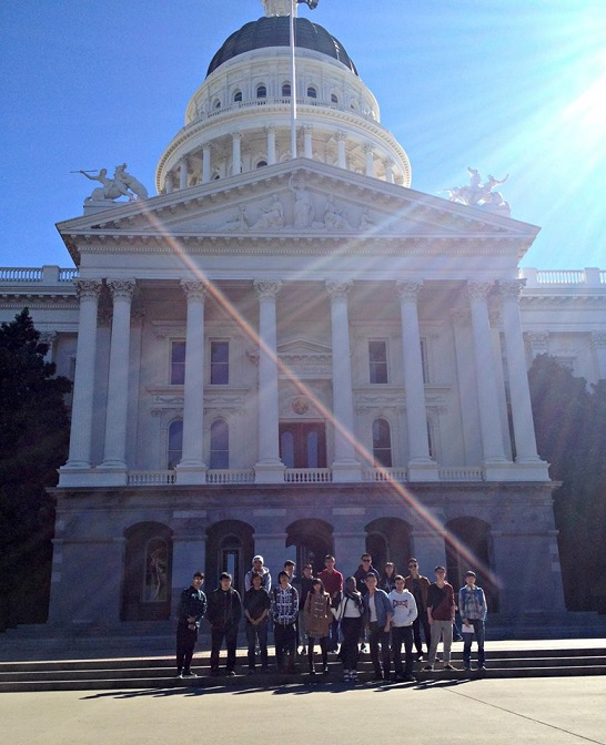 California State Capitol alci chico students catching rays in the warm California sun