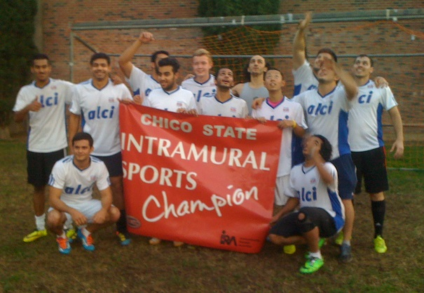ALCI United at Chico State English Language Program Futbol Team Champs
