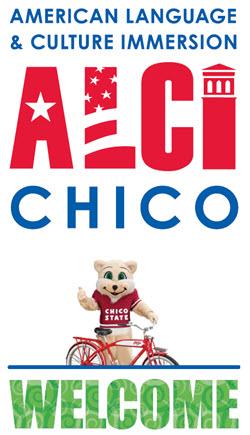 ALCI Chico Logo with Photo of Chico State Mascot Willie WIldcat