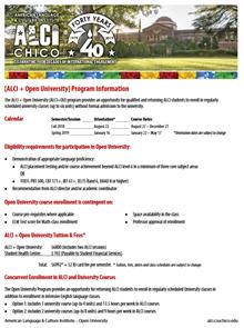 ALCI + Open University Information Sheet