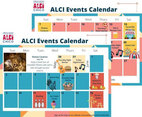Link to ALCI Student Activities Calendar