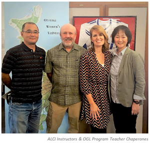Instructors from the Okinawa GLobal Leadership Program and the American Language and Culture Institute