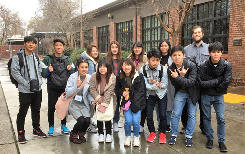 Naha Nikkei students arrive at Chico State for the 2019 Spring Higher Education Preparation Program