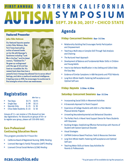 2017 Northern California Autism Symposium, September 29-30