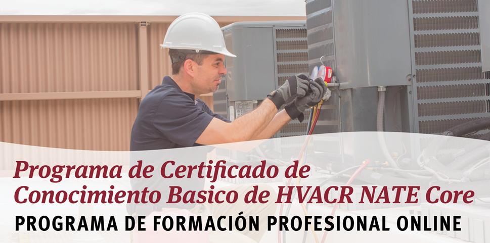 Programa de Certificado de Conocimiento Básico de HVACR NATE Core