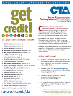 Image Linking to CTA Flyer of Conferences Eligible for Credit