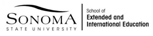 Logo: Sonoma State School of Extended & International Education