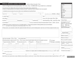 Special Session Proposal Form