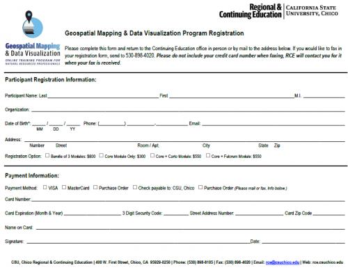 GIS Program Registration Form