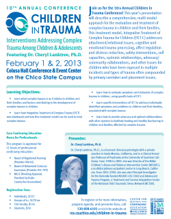 Children in Trauma Flyer