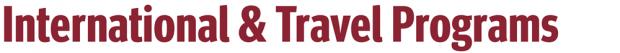 International and Travel Programs