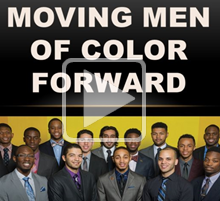 decorative image: moving men of color forward
