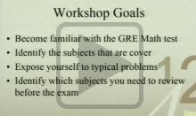GRE Math Prep Workshop Video Thumbnail Image