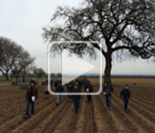 Decorative: Image of group walking through agricultural land