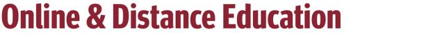 Online & Distance Education