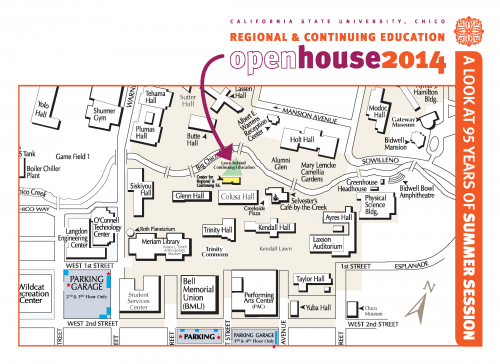 Open House 2014 Map