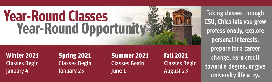 Year-Round Classes, Year-Round Opportunity