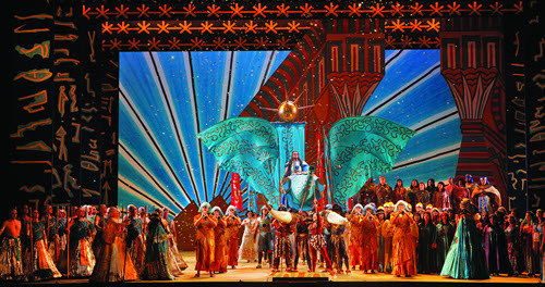 Aida cast performing at the San Francisco Opera