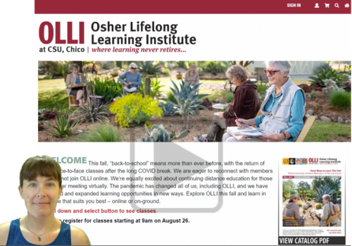 Image from the video tour of the new OLLI registration system.