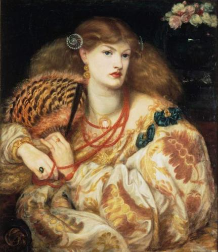 "Dante Gabriel Rossetti's 'Monna Vanna' is one of the paintings features in the San Francisco Legion of Honor Museum's exhibit, ""Truth and Beauty: The Pre-Raphaelites and the Old Masters"""