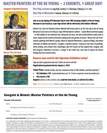 de Young Museum Trip Sign Up Form