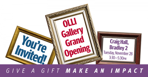 OLLI Gallery Grand Opening && Giving Day Event