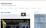 Screen capture of the online tour of the Great Decisions class website