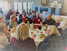 Guests enjoy the festivities at OLLI Chico's 2018 Holiday Luncheon
