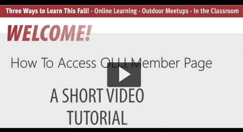 """Link to """"How to Access OLLI Member Page"""""""