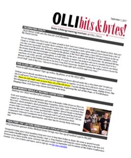OLLI Newsletter Image