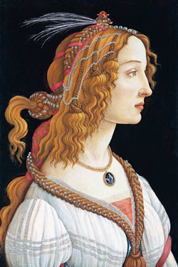 "Sandro Botticelli's 'Idealized Portrait of a Lady' is one of the paintings features in the San Francisco Legion of Honor Museum's exhibit, ""Truth and Beauty: The Pre-Raphaelites and the Old Masters"""