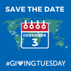 Save the Date! Giving Tuesday is Dec. 3, 2020