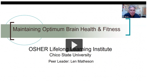 Screen capture of Len Matheson's Video Lecture. Click to view.