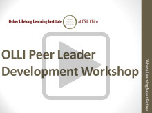 OLLI Peer Leader Video