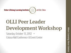 Peer Leader Workshop