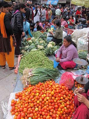 Kathmandu, Nepal Market Scene