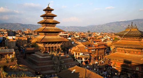 Kathmandu, Nepal City Scene