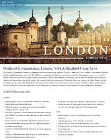 Learn more about the 2019 faculty-led study abroad trip to London