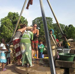 The Gambia - Pumping Water in Village