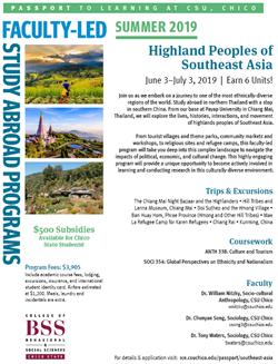 Program Flyer for Faculty-Led Program to Southeast Asia