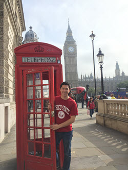 Chico State Student Exploring London