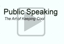 Watch Public Speaking: The Art of Keeping Cool presented by the Student Learning Center