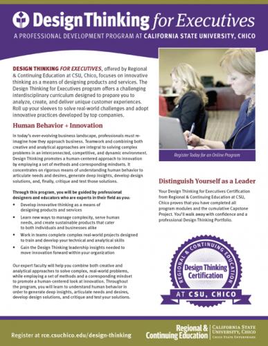 Design Thinking for Executives Program Brochure