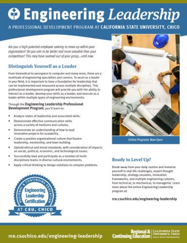 Engineering Leadership Brochure