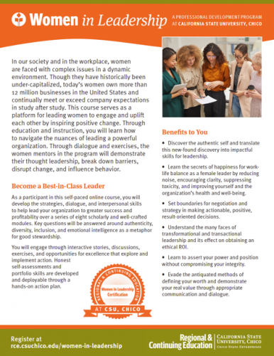 Women In Leadership Brochure