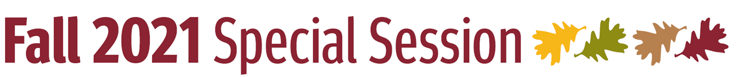 Fall 2021 Special Session