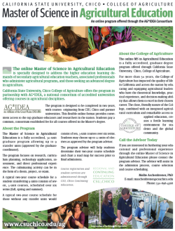 AS in Agriculture Education Flyer