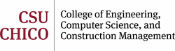 Logo: CSU, Chico College of Engineering, Computer Science && Construction Management