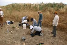 Beginning excavation